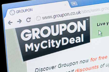 Groupon daily deals site
