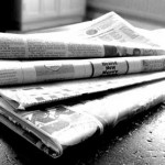 Newspapers B&W by NS Newsflash from Flickr