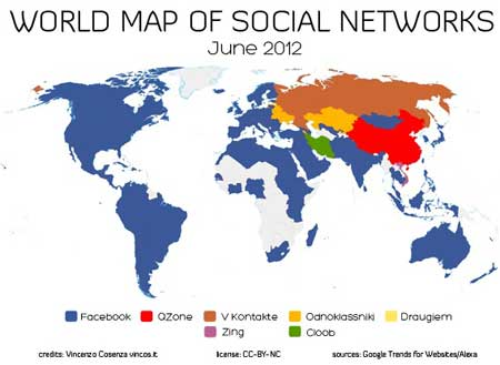 World Social Network May June 2012 by Vincenzo Cosenza