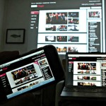 BBC iPlayer on mobile, PC and projector by Dan Taylor, Flickr