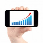 Smartphone and rising graph from iStockphoto