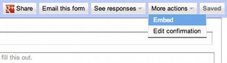 Embed Google form option