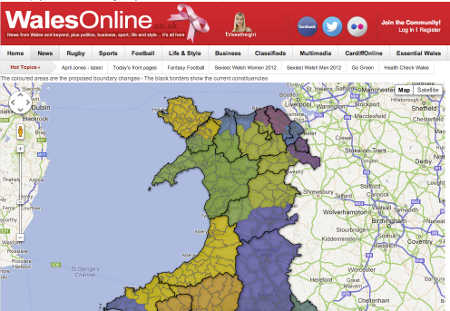 Wales Online boundary change map