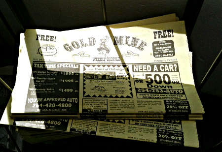 Gold Mine classifieds freesheet, photo by Michael Coté from Flickr