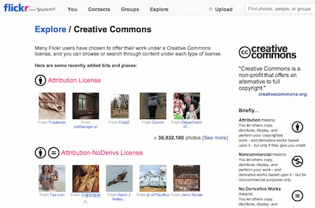 Flickr Creative Commons page