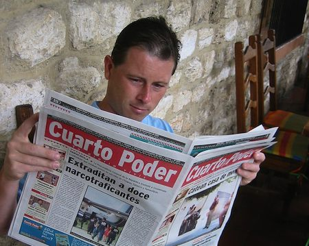 Mexico newspaper, by Tjeerd Wiersma, from Flickr, Some Rights Reserved