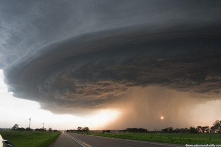 28 May 2004 Highway 12 Supercell northeast Nebraska by Mike Hollingshead