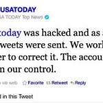 USA Today Twitter announces recovery of its hacked account